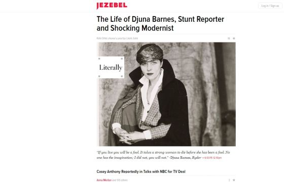 Djuna Barnes Jezebel featured article